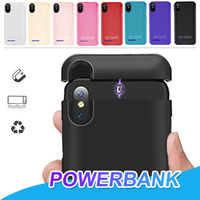 Para iphone x xr xs max power bank bateria case bateria de backup portátil externo recarregável capa case para iphone 6 7 8 plus com pacote