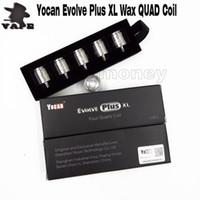 Authentische Yocan Evolve Plus XL-Coil-Quad-Quatz-Rang-Spule verhindert unordentliche Lecks für Evolve Plus XL Vape Pen Kit Kostenloser Versand