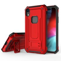 Magnetic Car Holder Stand TPU PC Cover Fodral för iPhone XR XS Max X 8 7 6 5 Samsung S7 Edge S8 S9 S10 Plus S10E Not 9 J4 J6 J7 2018