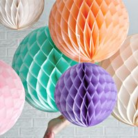 "6"" 8"" 10"" Honeycomb Pompom Tissue Paper Fake Fl..."