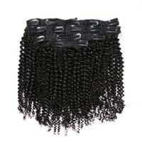 Clip Extensions Human Hair Afro Kinky Curly Brazilian Remy H...