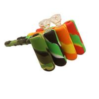 Multi-Funktions-Silikon-Hammer Pipes Camo Ölbrenner Bubbler Handrauchpfeifen Dab Rig Wax Jar Antihaft-Food Grade-Silikon-Bubbler DHL