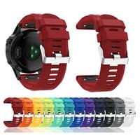Watchbands ل Garmin Fenix 5X Band من السهل صالح 26 مم عرض الشريط لينة سيليكون المطاط ووتش الشريط ل Garmin Fenix 5X Fenix 3 HR