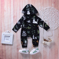 Baby boy toddler hooded jumsuit clothes rompers kid clothing...