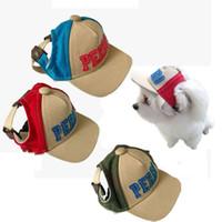 Neuer qualifizierter Sommer-Haustier-Hundekappe-nette Alphabet-Kappen-Baseball-Hut-kleiner Hund-im Freienfreizeit-Sonnenhut
