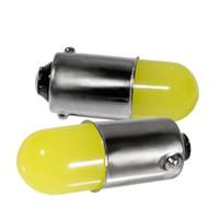 100pcs التي BA9S T4W 363 1895 233 سوبر برايت جولة 3D COB LED السيارات الخفيفة لوحات السيارات السيارات الداخلية الباب مصباح علامة لمبة الأبيض DC12V