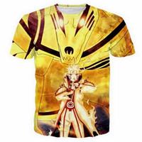 Anime Naruto 3D Drôle T-shirts Nouvelle Mode Hommes / Femmes 3D Imprimer Caractère T-shirts T-shirt Féminin Sexy T-shirt Tops Vêtements ya52