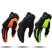 NEW Summer Touch Screen Motorcycle Gloves Green Motocross Ra...