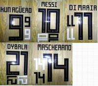 2018 Argentina Home Aguero Mascherano di Maria Messi Higuain Dybala Name Nameing Dyset Футбол Патч Футбол Значок
