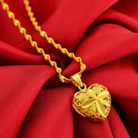 New arrival heart Pendant High quality 18KGP hollow love sha...