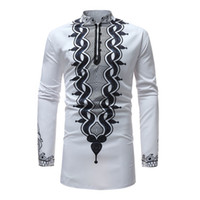 Mens African Dashiki Dress Shirt 2018 Brand New Traditional ...