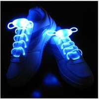 Nuevas luces de la novedad 1 par creativo Led Shoelace 3 modos luminoso zapato de encaje patinaje Correr Flash Light Party Holiday luces