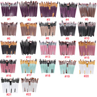 Profesional 20 Unids Pinceles de Maquillaje Set Powder Foundation Eyeshiner Eyeliner Lip Cosmetic Makeup Brushes Venta Caliente 3001366