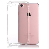 Para iPhone X XS MAX XR 7 8 Crystal Clear TPU Funda Absorción de Choque Suave Panel Transparente Contraportada Funda Iphone