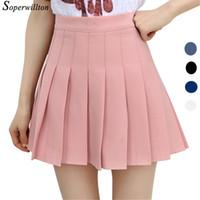 b6973b040c 2018 falda plisada de la escuela corta de la cintura alta para las  muchachas Mini faldas atractivas del verano de Pink Womens Leggings hembra  kawaii Sun ...