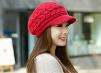 Kış Şapka HAN Edition Gelgit Kadın Sevimli Örme Şapka Tavşan Kürk Kap Qiu Dong Gün Bayanlar Moda Şapka 8 Renkler