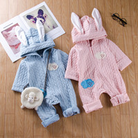 Infant baby boys girls animal hooded jumpsuit pajamas cute r...