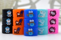 Silicio Vape anillos de banda grabado de silicona Protección de goma de dibujos animados anillo decorativo de belleza diámetro de 16 mm para EVOD EGO T torcedura de la batería de DHL
