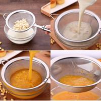 Utile 304 acciaio inossidabile succo di filtro del latte di soia filtro a rete Scolapasta Cucina Multipurpose colini e gadget da cucina