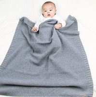 Newborns Knitted Swaddle Wrap Muslin Blankets Super Soft Tod...
