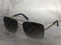 Урожай дизайн солнцезащитные очки для мужчин Отношение 0259 Металлические квадратные рамки блоки UV400 Линза на открытом воздухе Очки с оранжевой коробкой