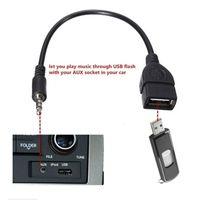 Nouveau 3.5mm Male Audio AUX Jack vers USB 2.0 Type A Femelle Convertisseur Câble Adaptateur OTG