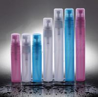 5 ملليلتر 8 ملليلتر 10 ملليلتر زجاجة رذاذ البلاستيك مع ضباب البخاخة فارغة إعادة الملء العطور عينة قوارير الحاويات التجميل شحن مجاني LX3946