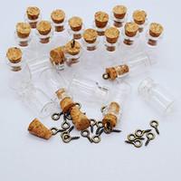 1ml 11x22x07mm Mini minus minuscules Botte de verre en verre avec bouchons en liège, bouteilles en verre pour la décoration, artisanat artisanal, projets, faveurs de fête