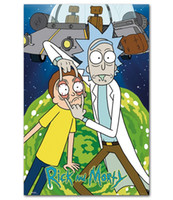 Multi Pattern Rick And Morty Poster Wall Painting Posters Pr...