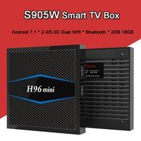 Android TV BOX H96 mini Android 7.1.2 2 GB RAM 16 GB ROM Amlogic S905W Quad Core Bluetooth H. 265 UHD 4 K WiFi H96Mini Set-top box