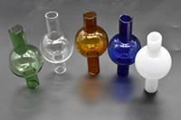 Nuovo design 50mm XXXL Thermal P Banger Quarzo Chiodo Quarzo Banger Carb Cap Universale in vetro colorato Bubble Carb Cap Dabber Glass Carb Cap