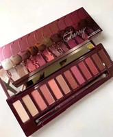 Maquillage palette à paupières 12 couleurs cerisier ombre oculaire cosmétique Nouveau ventes chaudes naturelles de longue durée de longue durée