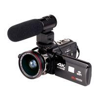 2019 WIFI 4 K Kamera 16X zoom 3.0 HD dokunmatik Ekran IR Kızılötesi Dijital Video Kamera Ile 24 Mega Piksel
