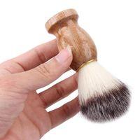 الرجال الحلاقة فرشاة الغرير تصفيف الشعر حلاقة صالون حلاقة الوجه اللحية منظف أداة الحلاقة فرشاة مقبض الخشب شحن مجاني