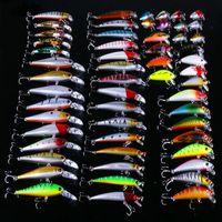56 pçs / lote Todo-Poderoso misturado isca de pesca isca conjunto wobbler crankbaits swimbait minnow isca dura fita spiners carpa pesca tackle 413 x2