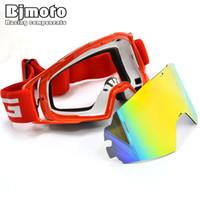 f7dcc3f166708 BJMOTO Lente Removível Motocross Óculos de Proteção Da Motocicleta óculos  Óculos ATV Clear Lens Ski Capacete Googles Off-road Para Motos