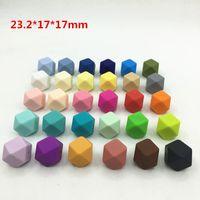 23.2mm Biggest Geometric Hexagon Silikon Perlen - DIY Los 100pcs Hexagon lose Einzel Silikon Perlen in 30 Farben