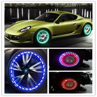 16 MODE Energie solaire LED voiture Auto Flash Roue de pneu Valve Cap Néon Daytime Changer de lampe d'éclairage Solaire Énergie Solaire Capuchon de gaz