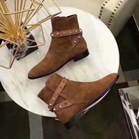 2018 le nouveau top classique rivet bottes courtes, Jack de toutes sortes d'artefacts, agneau importé, une taille de cheveux 35-40 + joliment emballés.
