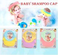 Hight qualité Réglable Bain Douche Bébé Douche Bonnets Oreille Protection Imperméable À L'eau Shampooing Cap Silicone baby shower Caps KK02