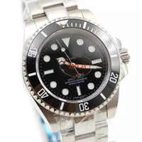 Venta caliente Reloj para hombre movimiento automático Cerámica Bisel Cristal de zafiro Sólido Cierre Inoxidable Relojes de los hombres 116610 Reloj masculino