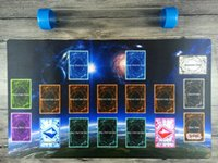 Yugioh Master Regra 4 Link Zone 1P Custom Playmat TCG MAT Tubo de Alta Qualidade Livre Enviar Receber Saco Frete Grátis