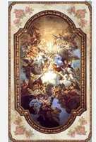 Custom Large Ceiling Mural Wallpaper Continental rococo style living room zenith mural Photo Mural Ceiling Wallpapers
