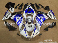 Carénages de moto ACE Pour YAMAHA YZF R1 2013-2014 Carrosserie de compression ou d'injection bleue et blanche étonnante No.1203