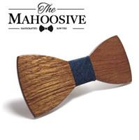 Pajarita de madera mahoosive Pajaritas de madera para hombre Gravatas Corbatas Corbata de mariposa de negocios Corbatas para hombres Corbatas de madera