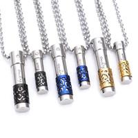 Флакон духов кулон ожерелье 316L Титан нержавеющая сталь может открыть бутылку диффузор медальон женщины мужчины мода ожерелья ювелирные изделия
