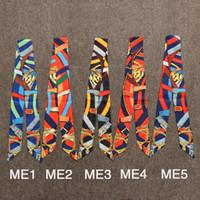 Il sacchetto di mano delle sciarpe delle donne piccola sciarpa di seta cinghia fazzoletto Cintura Nastro Bandana Carino Pony Animal Print Handle Bag nastro Sciarpe Wraps