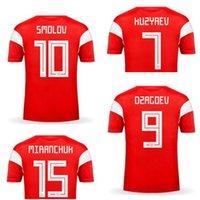 Personalizado 2020 camisas Qualidade de Futebol 9 Dzagoev tailandeses, feitos sob encomenda 10 Smolov 6 Cheryshev 11 Zobnin 18 Zhirkov 17 Golovin Training usa