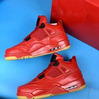 New 4 IV WMNS Single Days all red men basketball shoes MALE ...