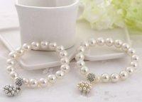 Luxury Fashion Designer Perla Braccialetto di perle Braccialetto di gioielli da sposa Per le donne Lady Girl Bella Bracciale elastico Bella gioielli da sposa
